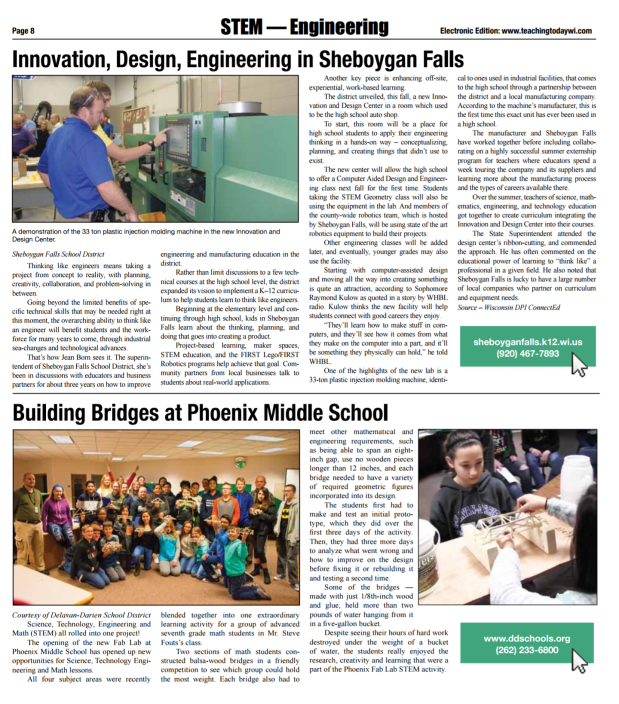 Innovation, Design, Engineering in Sheboygan Falls